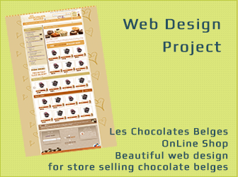Web Design for Belges Chocolate Store