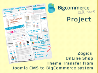 Zogics OnLine Shop – Theme Transfer from Joomla to BigCommerce